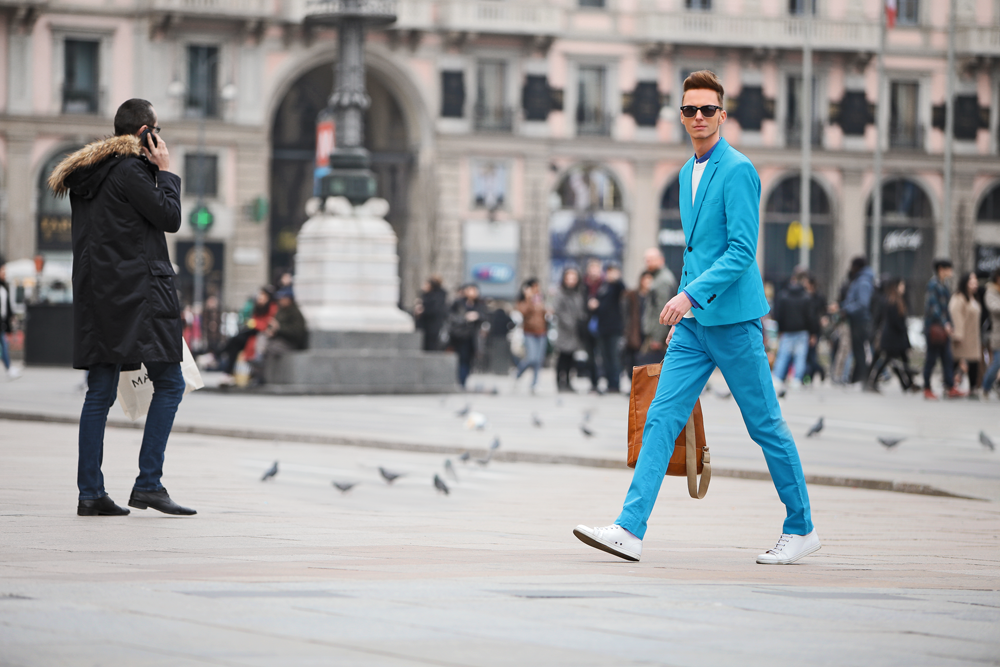 ◄ O U T F I T 2 0 1 5 . 0 4 . 1 9 . Blue like the sky /Milan Fashion Week