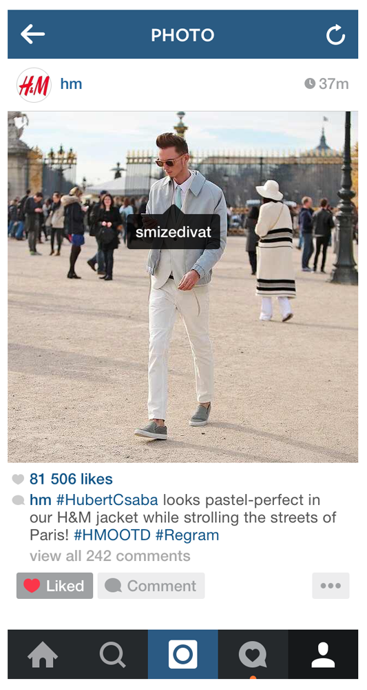 Featured on H&M's Official Instagram