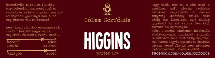 Jön a GÓLEM! - Higgins, házi Porter