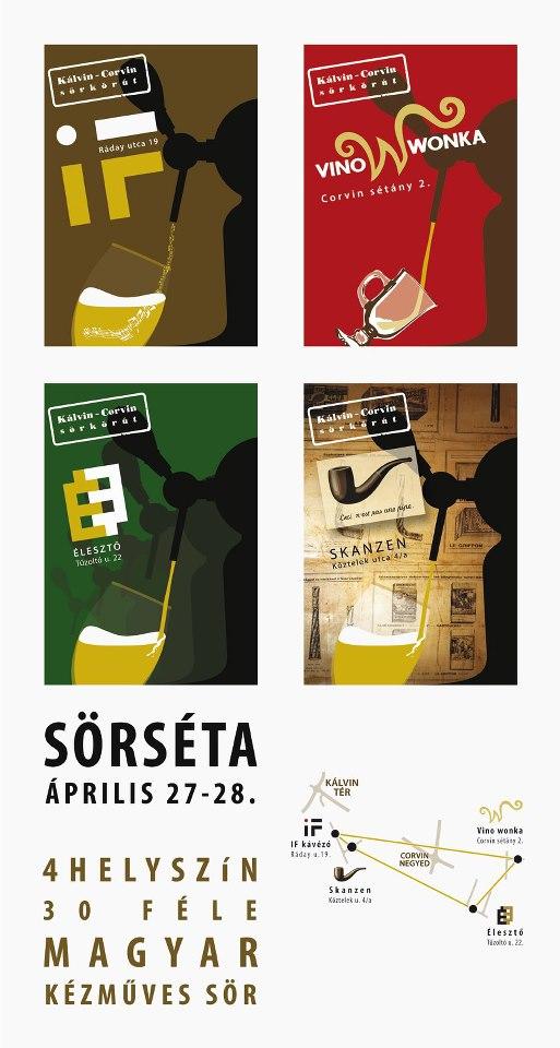 4 söröző - 30 kézműves sör - Sörséta a Kálvin-Corvin sörkörúton