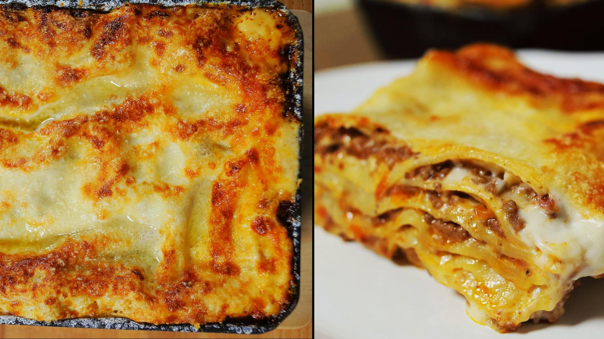 Bolognai lasagne recept