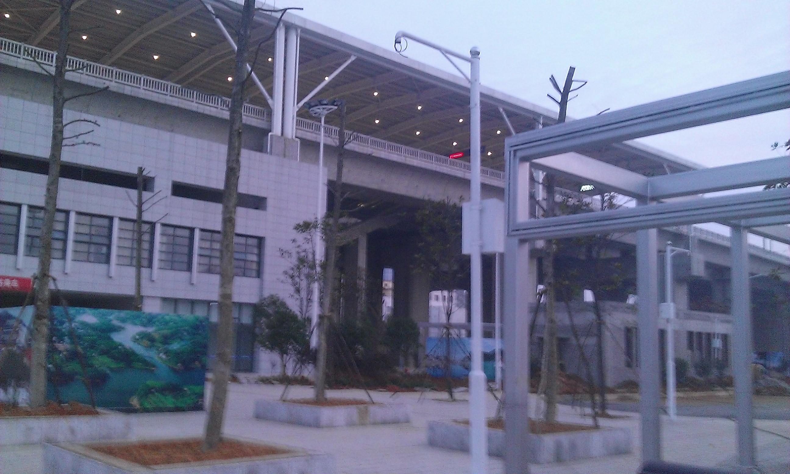 Az állomás előtti rész