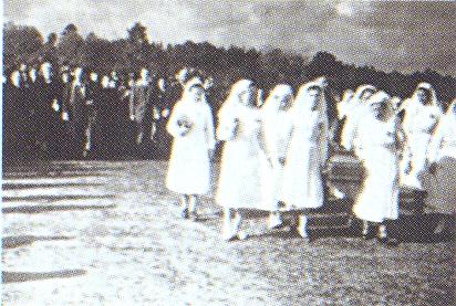 Jácinta koporsójának átvitele a Bazilikába 1951. 05.01-én.jpg
