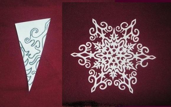 Как сделать красивые новогодние снежинки 830