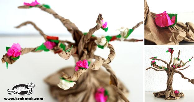 Дерево из пакета своими руками 2