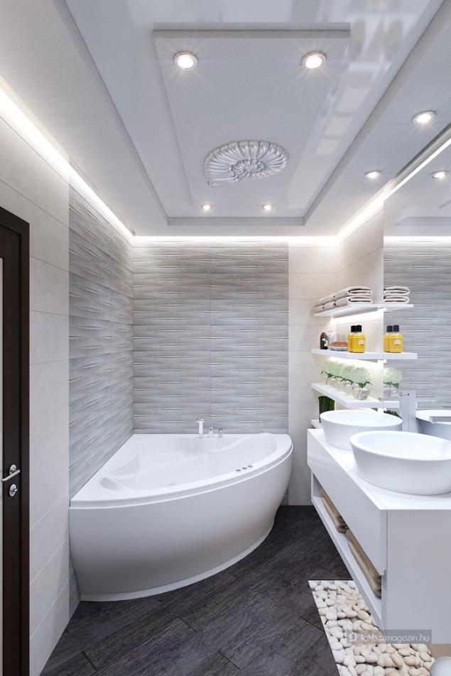 Nagyszerű burkolatok, kis fürdőszobák - Tervek, álmok, otthonok lakberendezés + más