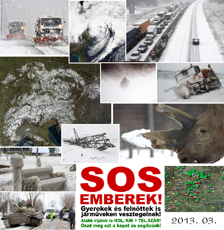 hóhelyzet 2013 márciusa