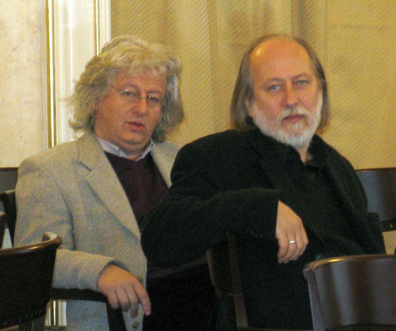 Esterházy Péter, Krasznahorkai László (2006).jpg