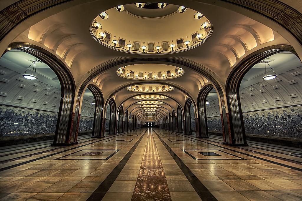 Kievskaya, Mayakovskaya And Park Pobedy Stations, Moscow2.jpg