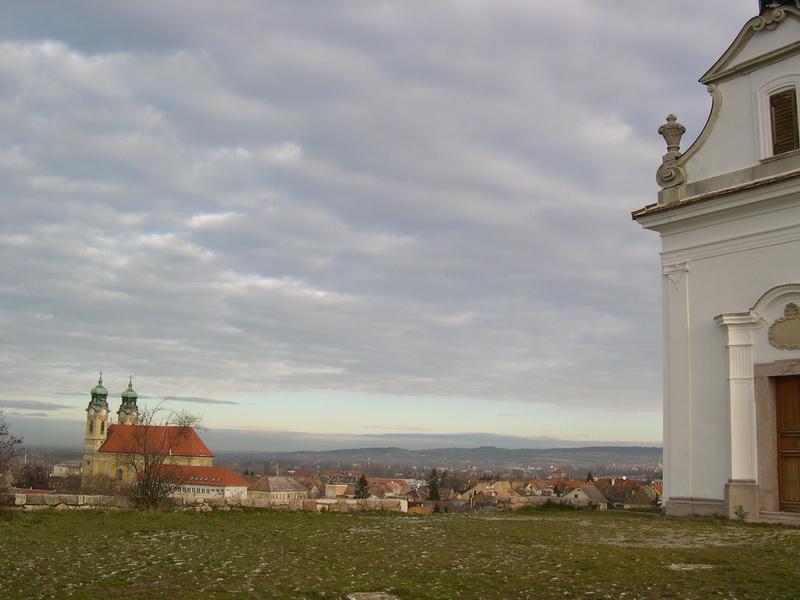 panoráma a Kálvária-dombról