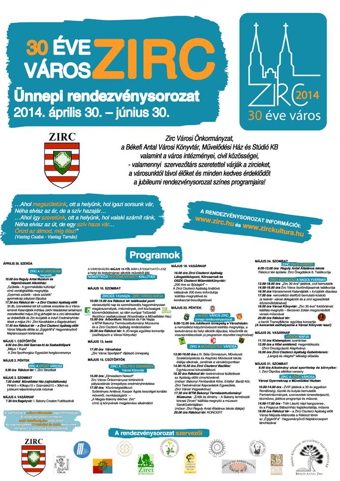 30 éve város Zirc nagy plakát sml.jpg