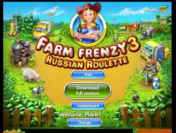 Играть бесплатно в онлайн игру Веселая ферма 3 Русская рулетка. Farm
