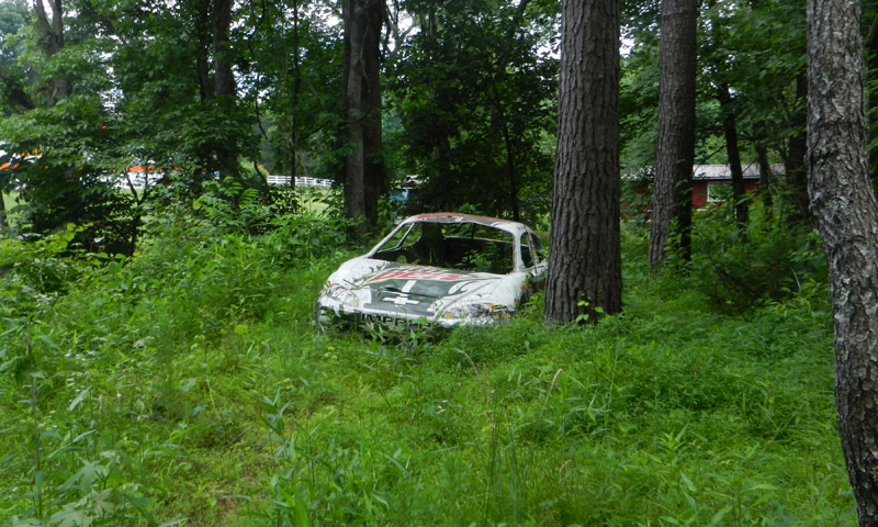 Dale Jr. több, saját autóját is örök nyugalomra helyezte a hátsó kertben.