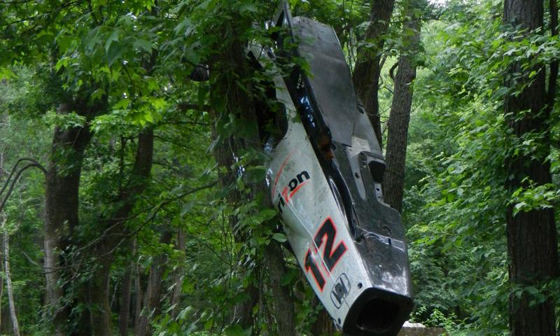Will Power 12-es számú Team Penske gépe arról a napról, amelyet minden autósport rajongó szeretne meg nem történtté tenni.