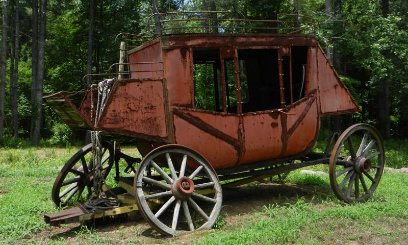 Nincs vadnyugati város postakocsi nélkül. Akárcsak a többi jármű, ez sem megy már sehová.
